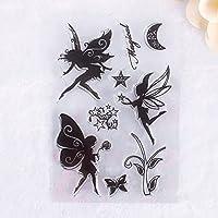 CALISTOUK Beautiful Different Fairy Picture Transparent Rubber Stamp Seal DIY Album Craft Scrapbooking Decoration,05
