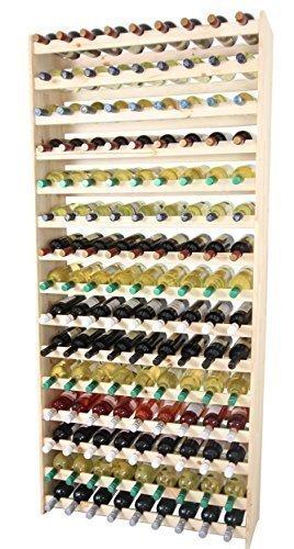 Modo24de étagère à vin en bois 135 pour bouteilles - 135 massif!