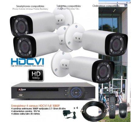 Hyundai-Kit Video Überwachung 1080P mit 4Kameras Außen IR 60m-kit-dvr187-4x Extreme Ducker-500GB HDD 500 Gb Dvr