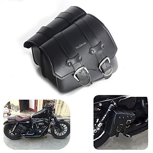 1 paio di borse laterali da motocicletta laterali in pelle PU per motociclist