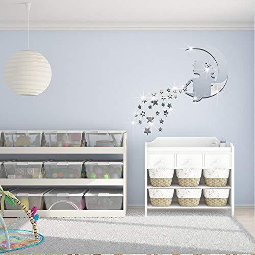 Kreative Bausteine   Puzzle Magic Girl Sterne Mond Spiegel Wandsticker Acryl Stereo Wandsticker @ 02 (Puzzle Schale Für Hunde)
