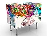 Apalis Design Vanity Brain Explosions 60x 55x 35cm, Piccolo, Largo 60cm, Regolabile, lavandino, lavabo, Rubinetto per lavabo da Bagno, Armadio, unità di Base, Bagno, Narrow, Flat