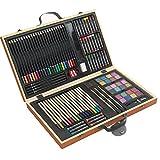 88de pinturas piezas Buzón de agua de color lápices de colores de lápices Madera pincel de maletín