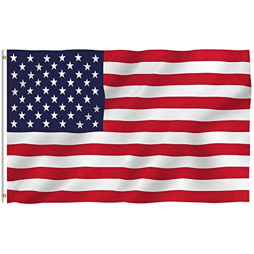 Ojkk bandiera americana poliestere, 90 x 150cm stelle e strisce bandiera stati uniti usa/occhielli metallici/bandiera per eventi sportivi per il 4 luglio giorno dell'indipendenza