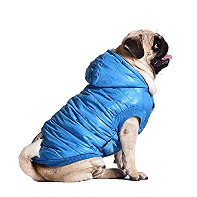 SUPEREX® Stormguard & Fleece Lining Coat Coat Jacket Quilted wadded Padded Puffer Pet Dog Puppy Clothes hooded For Small & Medium dog coats for winter autumn Warm fashion Vest (Plz pay attention to the size chart)