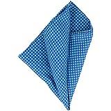 Blick Pañuelo de seda hecho a mano azul