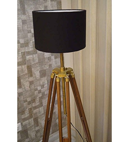 laton-antiguo-acabado-de-madera-lampara-de-pie-suelo-tripode-ajustable