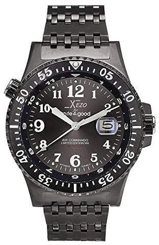Xezo for Unite4:good Air Commando Divers Automatic Watch, Swiss Sapphire