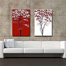 Rojo y blanco abstracto de la flor moderna sala de pintura decorativa ( Tamaño : 50*70*2.5cm )