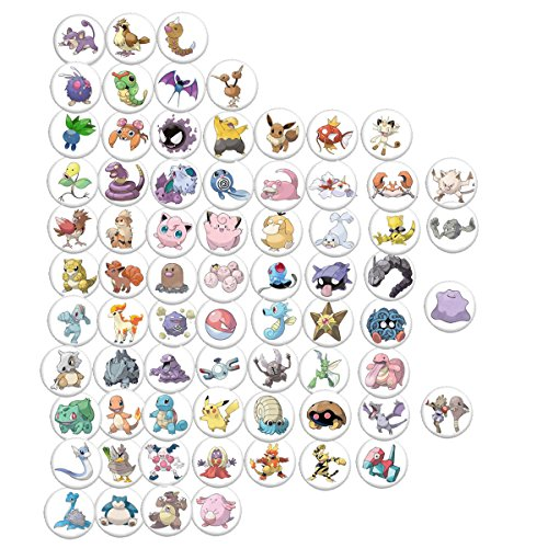 Pokemon Go Characters Collection Pinback Button 3,8 cm -