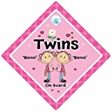 Twins On Board Car Sign, Personalised Twins Sign, Personalised Baby On Board Sign, Custom Baby on Board Sign, WE'LL ADD ANY NAME To Create Your Own Personalised Baby on Board Sign, baby on board, Personalised Baby on Board Signs, Personalised Car Signs, Custom Car Signs, Custom Baby On Board Sign, Baby Car Signs, Car Sign, Bumper Sticker, Baby on Board, Automobile Sign, Vehicle Sign, How do you add your stuff? Simple, just order this sign and we will contact you by email