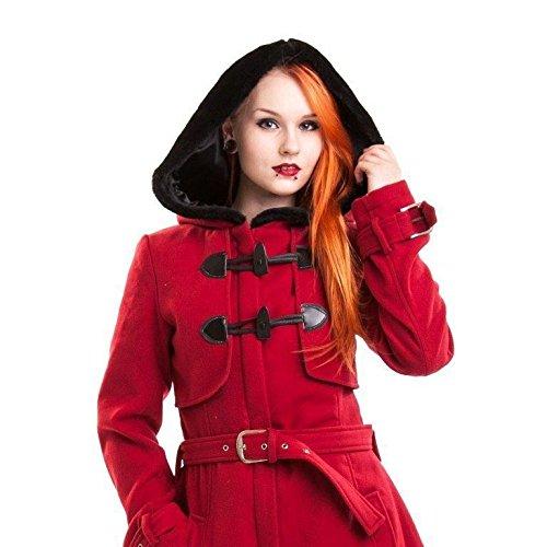 Vixxsin Moana Cappotto donna rosso Goth Emo Punk Red L