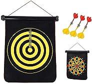 Dart Set Magnetic Dartboard Set Hanging Roll Up DartBoard Set Leisure Sports for Kids adults with 6 Darts