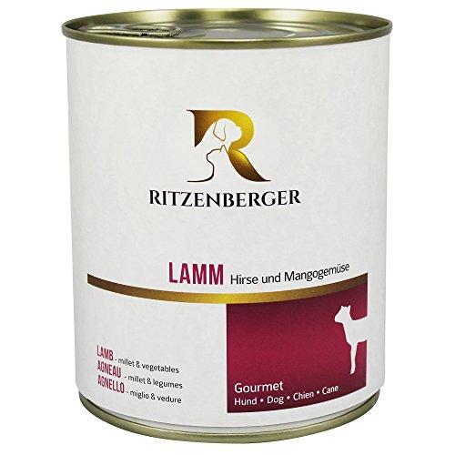 Ritzenberger, cibo per cani, Agnello - miglio & vedure, 6 x 800g, Gourmet