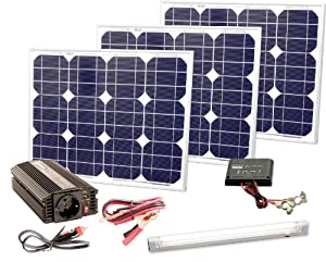 Süd Solar 03091 Kit complet de production d'énergie solaire 90 W 230 V