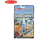 Melissa & Doug On The Go Water Wow! Under The Sea (Reusable Water-Reveal Activity Pad, Chunky-Size Water Pen)