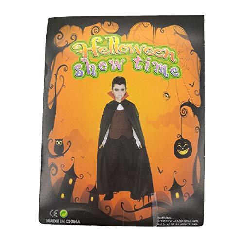 hwarzes Umhang mit rotem Detail für Erwachsene und Kinder für Halloween ohne Kapuze Brujo oder Bruja. Vampir Kostüm Unisex-Umhang für Erwachsene und Kinder, Einheitsgröße. ()