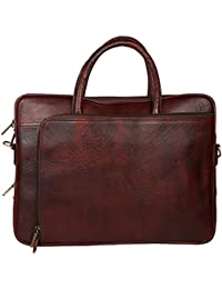 Sahil Leather Brown Leather Laptop Bag - B073Q4HCY1