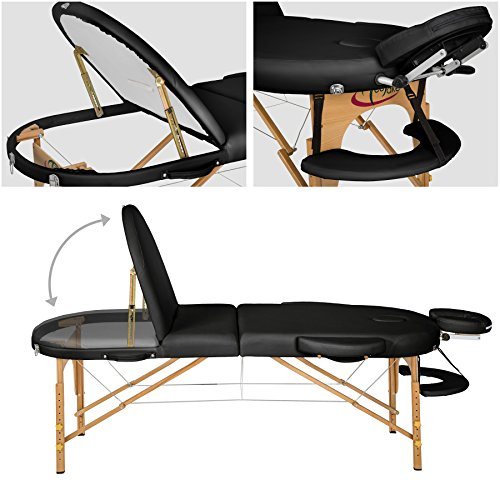 TecTake Massageliege – oval - 2