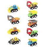 Vehículos de Construcción Mini Coches Juguetes Niños Set de Camiones...