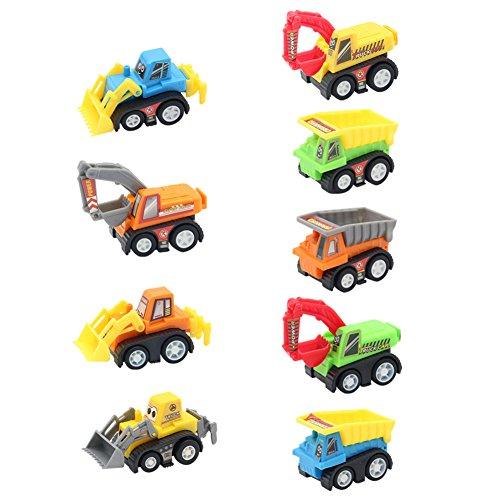 Vehículos de Construcción Mini Coches Juguetes Niños Set...