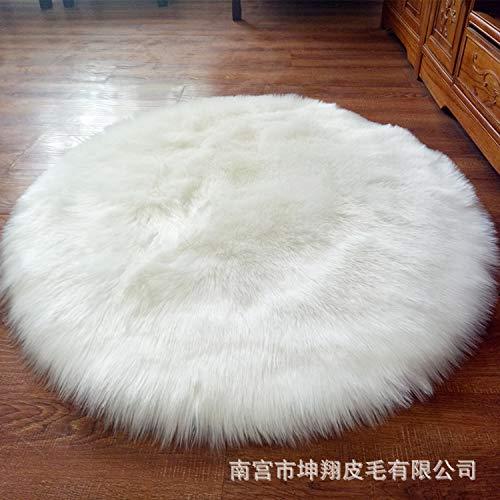 Floridivy 30cm weich rund Velvet Teppich-Stuhl-Abdeckung Schlafzimmer Mat Warm Hairy Teppich Sitz Textil Vorleger Decken-Kissen - Velvet Schlafzimmer