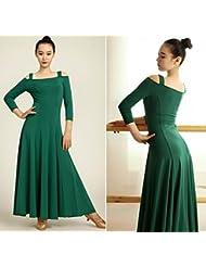 Falda de la danza internacional grande , green , s
