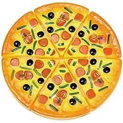 Manyo 6 Stück, Pizza Essen Spielzeug, Kinder Kinder Küche Party Fast Food Scheiben Essen Spielzeug