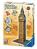 Ravensburger 3D-Puzzle 12586 - Big Ben mit echter Uhr, 216-teilig Bauwerke