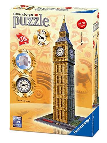 Preisvergleich Produktbild Ravensburger 125869- Big Ben mit echter Uhr, 216 Teilig Bauwerke