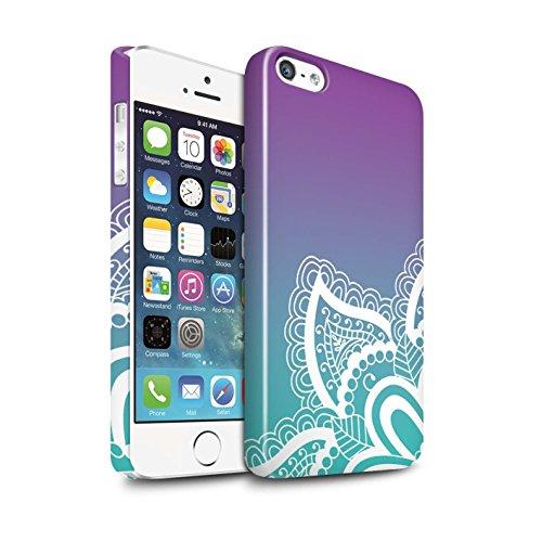 STUFF4 Glanz Snap-On Hülle / Case für Apple iPhone 5/5S / Leuchtende Sterne Muster / Ombre Muster Kollektion Weiß Henna-Tattoo