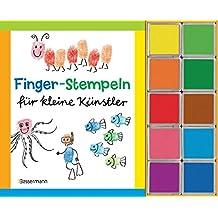 Finger-Stempeln für kleine Künstler-Set: Buch und 10 Stempelkissen