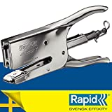 RAPID 10510601 - Tenaza CLASSIC modelo K1 color cromado, Grapas 24/6, 24/8