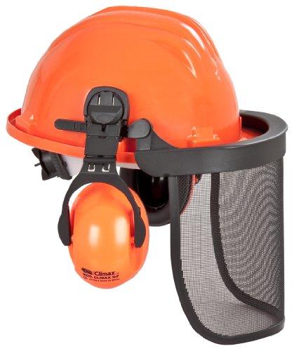 Forsthelm 658-0-500-I - Casco di protezione a norma EN 397, con cuffia antirumore a norma EN 352 e visiera a norma EN 1731