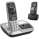 Gigaset Schnurloses téléphone analogique E560 A Plus (répondeur version allemande!), incl. Notrufsender, mains libres P