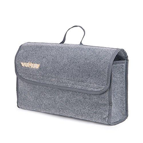 Preisvergleich Produktbild Baibu Praktischer Organizer Rücksitz Aufbewahrungstasche Werketasche für den Kofferraum Auto-Kofferraumtasche aus Felt, Grau 46x27x15cm