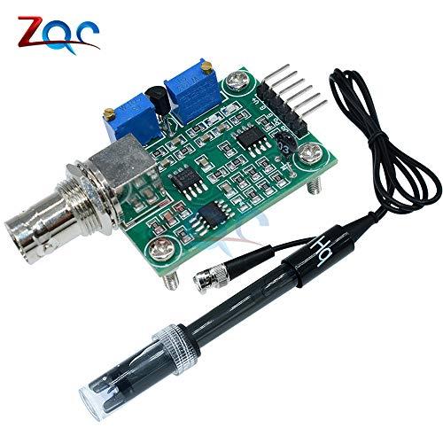 Ph-sensor (Flüssige PH-Wert Erkennung erkennt Sensor Modul-Überwachungs Steuerung für Arduino BNC Elektroden Sonde)