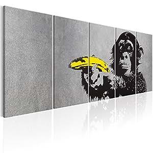 murando - Bilder Banksy AFFE mit Banane 200x80 cm Vlies