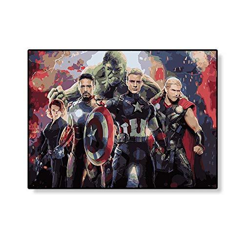 DIRART Rahmenlos Digitale Malerei The Avengers Iron Man Kind DIY Digital Malen Nach Zahlen Moderne Wandkunst Leinwand Gemälde 40X50Cm - Multi Purpose Leinwand