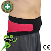 Faja Lumbar (M/FRAMB) - Cinturón de Protección Lumbar ANTI-SUDOR, HIPOALERGÉNICA (SIN NEOPRENO – SIN LATEX), respeta las píelas más delicadas. 4DflexiSPORT