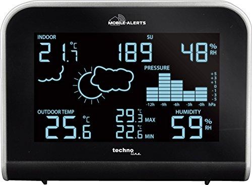 MA 10920 - Station météo avec Connexion à Le Mobile alerts Système de Surveillance Maison, Transmission des valeurs Aussi Le Smartphone, Affichage LED dans différents Lumineux