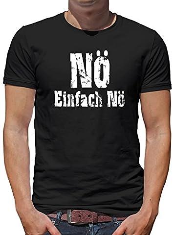 TLM Nö einfach Nö T-Shirt Herren XXXL Schwarz (Einfache Katzen-kostüm Für Arbeit)