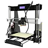Anet A8 3D Drucker Kits, DIY 3D Printer mit MK8 Extruder LCD Display, Druckmaschine Mechanical Kit Acryl Rahmen Aluminium Struktur Print 3 Materialien, Printing Size 220x220x240mm