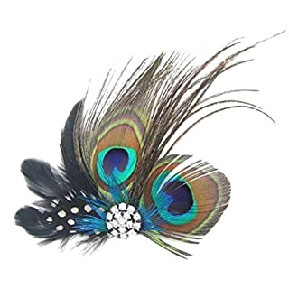 Attractive Beauty Girls/Womens Peacock Feather Hair Clip
