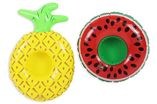 Aufblasbarer Getränkehalter / Becherhalter für Pool, Whirlpool, Badewanne, Ananas / Wassermelone / Flamingo, Sommer, treibt auf dem Wasser