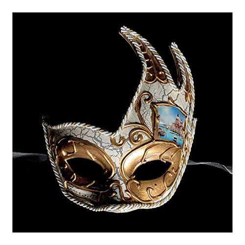 T682541 Halloween Maske Venezianische Maske Spaß Retro Maske Prinzessin Halbmaske Kopfbedeckung Cosplay Halloween Dress - Horrorfilm Paare Kostüm
