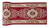 Klassischer Teppichläufer - Läufer Für Flur Wohnzimmer Küche - Weinrot Beige - Orientalisches Perser Blumen Muster - Robust Strapazierfähig Pflegeleicht - Verona Kollektion von CARPETO (70 x 160 cm)