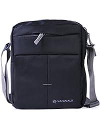Vanwalk Black Men, Boys, Women, Girls Casual Nylon Unisex Sling Bag