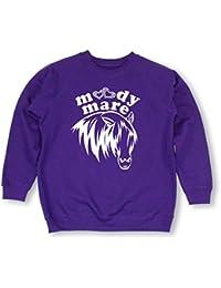 PURPLE Moody Mare Diamante Diamante Diamonte children riding sweatshirt (Size) 14-15 Years -Purple