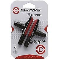 Clarks Gold MTB - Coppia di portapattini leggeri in alluminio + pattini per freno V-Brake, per tutte le stagioni, compatibile con i sistemi di freno più comuni (72 mm)